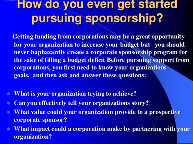 how to ask for sponsorship
