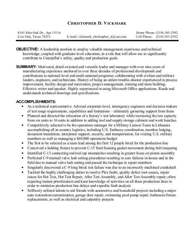 Vickmark_Christopher_D Open Objective Resume