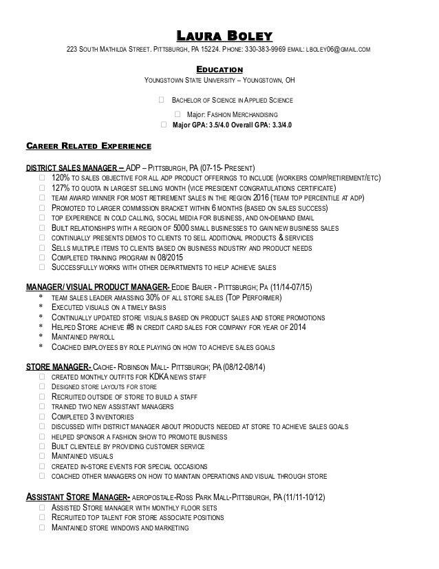 aeropostale resume