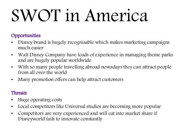 resort world swot Case analysis, eurodisney case 2-1 the not-so-wonderful world of euro disney —things are better now at disneyland resort paris executive summary the walt disney company is the parent the following swot analysis is used to systematically evaluate the company's strengths and.