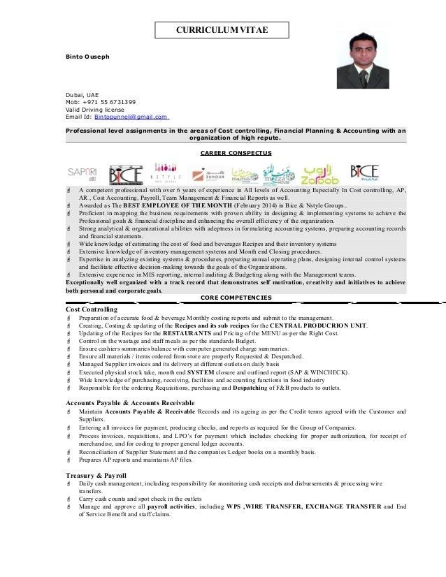 Sample Financial Controller Resume] Financial Controller Cv Sample ...