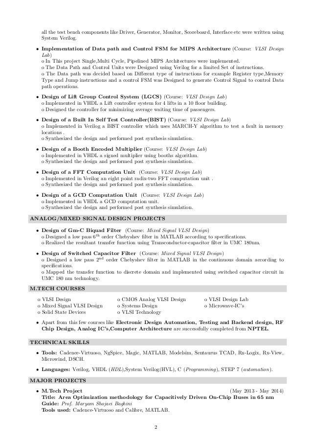 vlsi verification resume