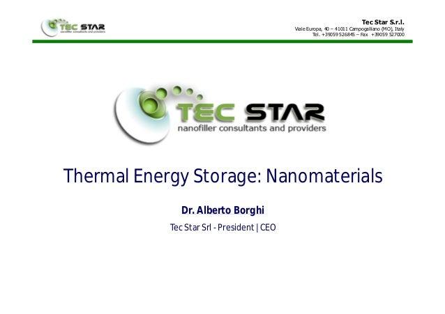 Tec Star S.r.l. Viale Europa, 40 – 41011 Campogalliano (MO), Italy Tel. +39059 526845 – Fax +39059 527000 Thermal Energy S...