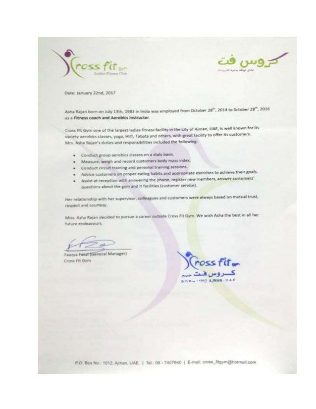 Asha Cr Crossfit Experience Certificate