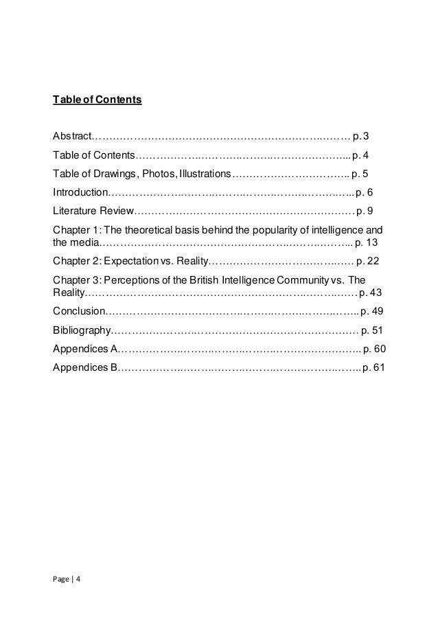 Msc dissertation literature review