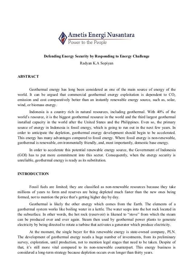 geothermal essay