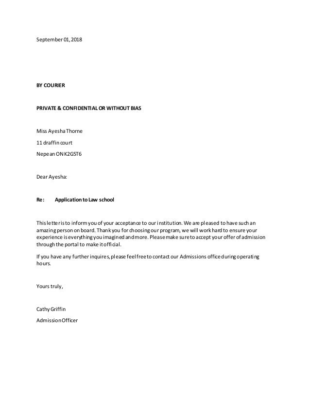 Practice full block letter practice full block letter september012018 by courier private confidential or without bias miss ayeshathorne 11 draffincourt nepeanon altavistaventures Image collections