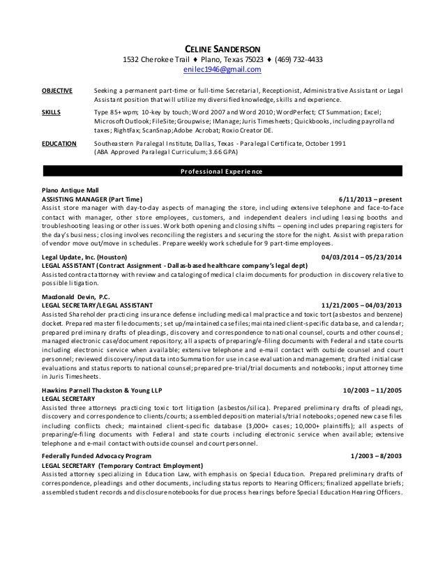 Resume - Celine Sanderson