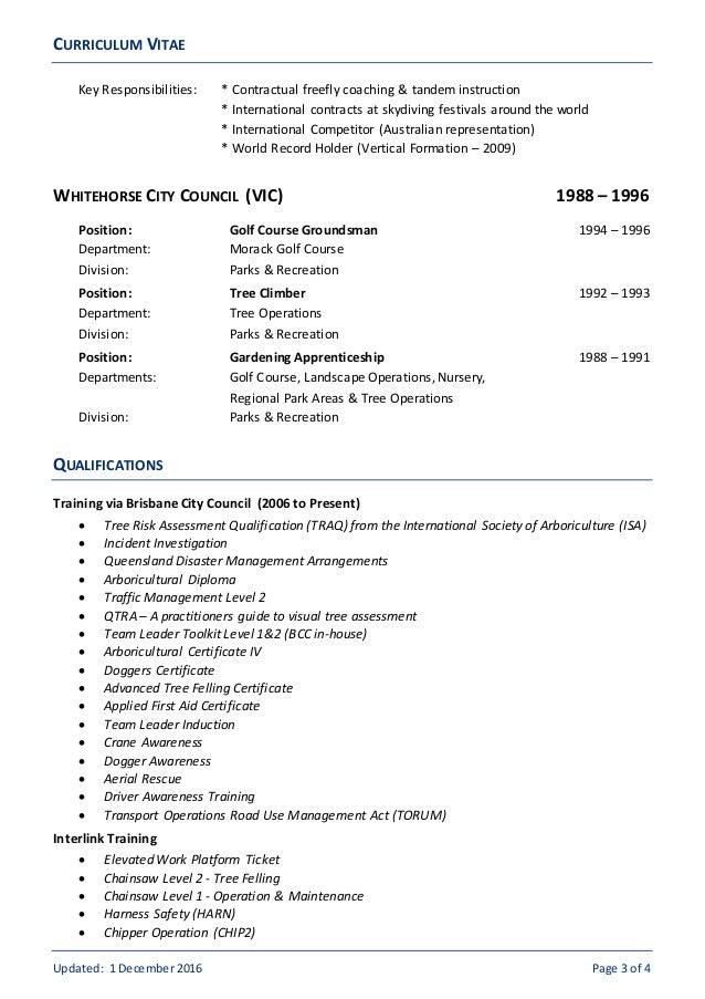 arborist resume