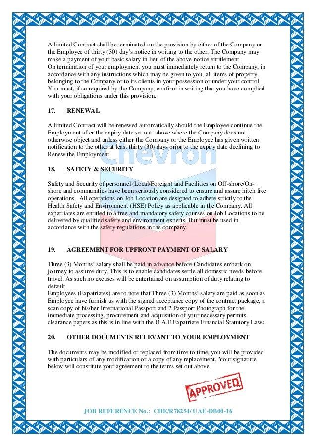 100 1yr employment bond agreement appointment