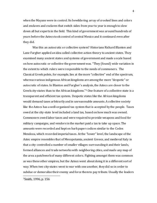 aztec thesis statement