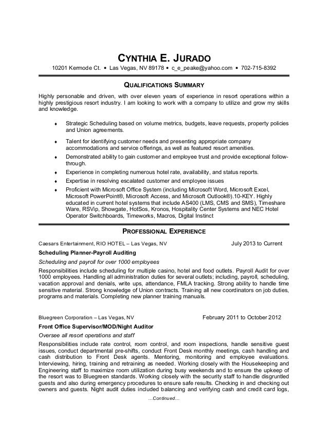 Resume Of Kristie Medical