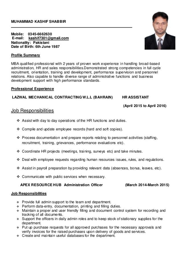 hr assistant resume - Monza berglauf-verband com