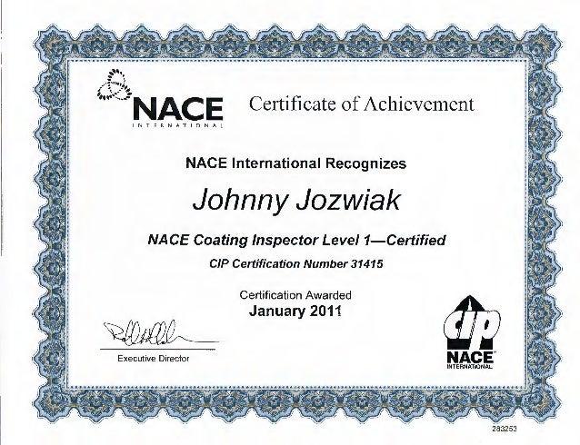 nace coating inspector level certificate slideshare cert program upcoming