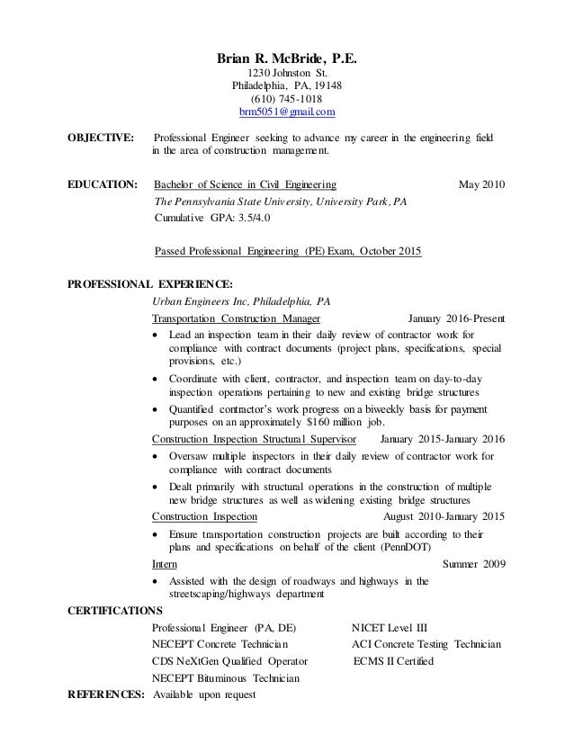 Brian Mcbride Resume