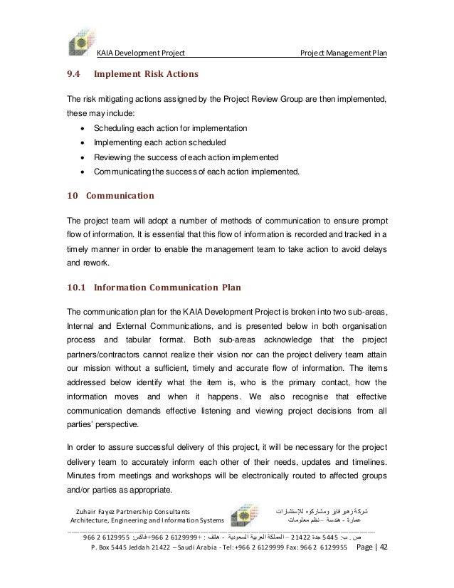 ... 42. KAIA Development Project ProjectManagementPlan ...