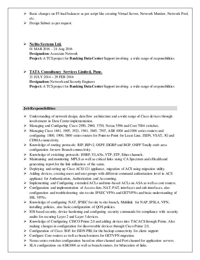 Juniper Firewall Engineer Resume