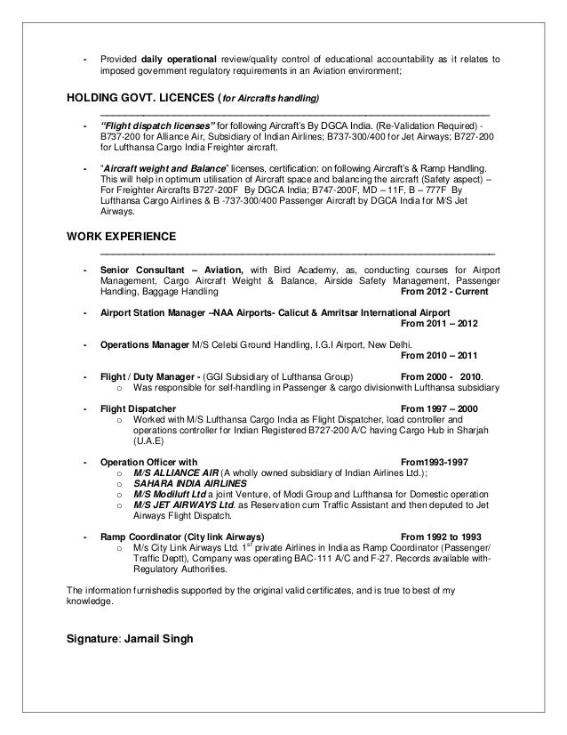 Amazing Airline And Airport Management Resume Images - Best Resume ...