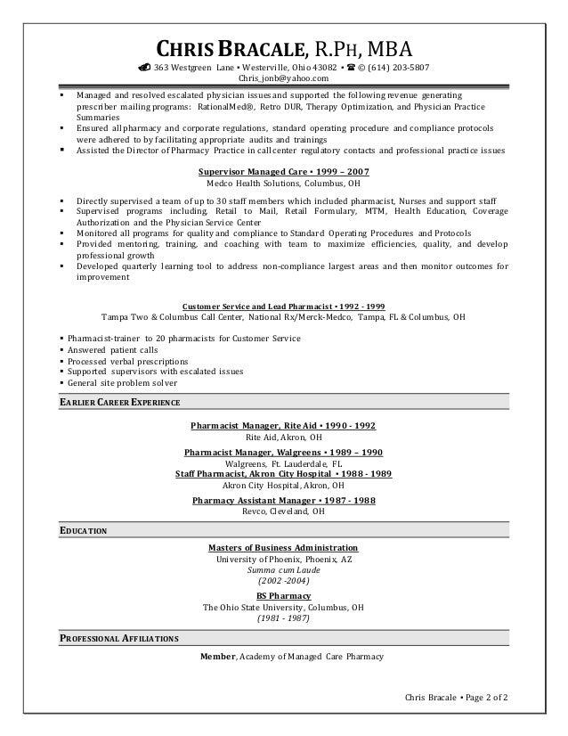 chris bracale resume 071615