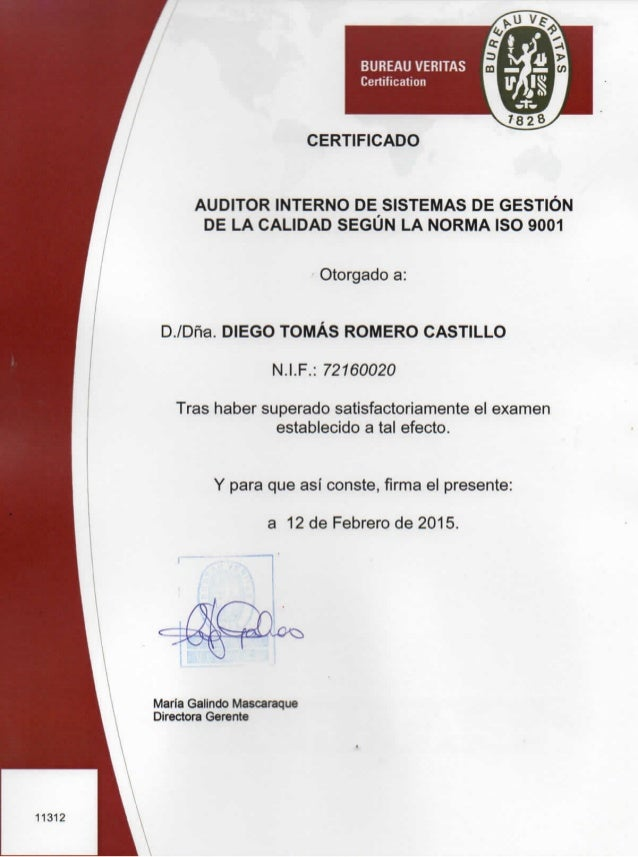 Diploma auditor interno esp eng for Interno mail