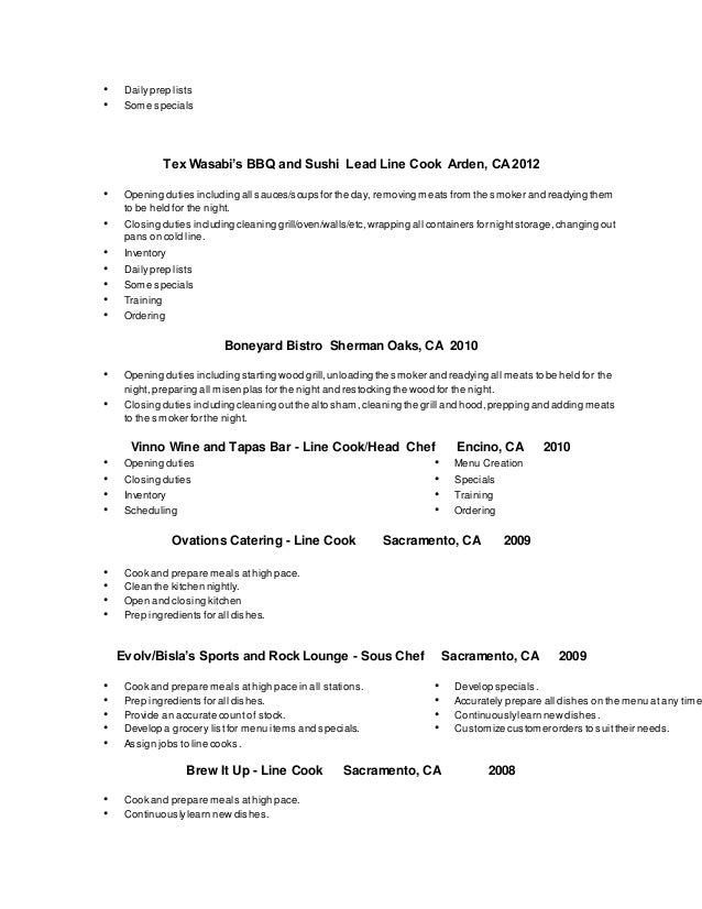 amazing cook duties resume gallery simple resume office