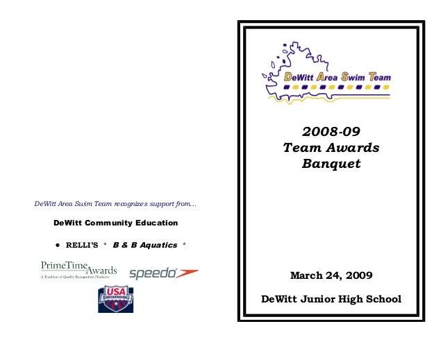 DAST awards banquet program 2009