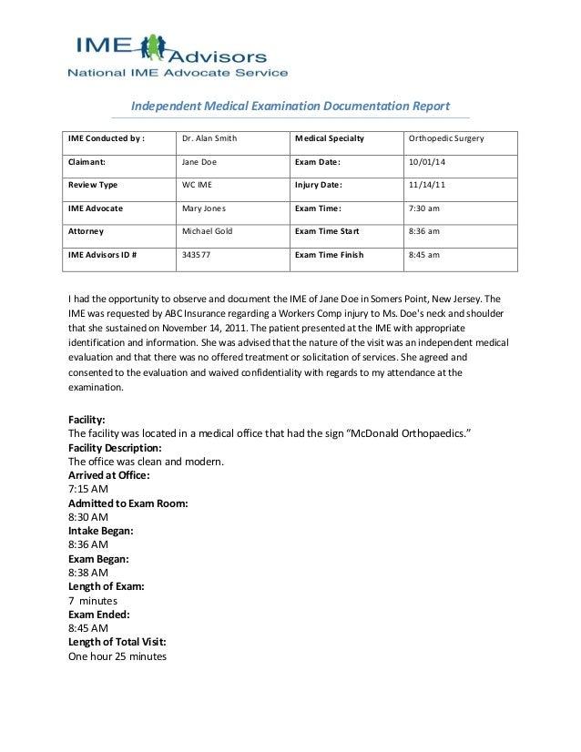 ime advisors advocate report
