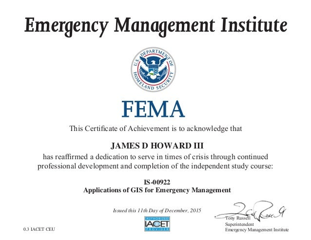 certificate gis slideshare applications upcoming