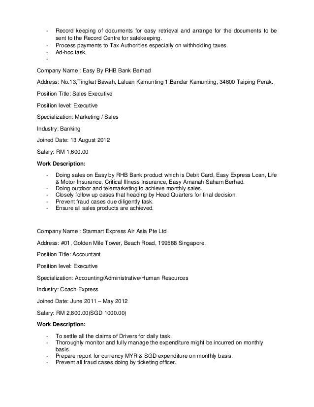 resume siti nuraisyah june 2015