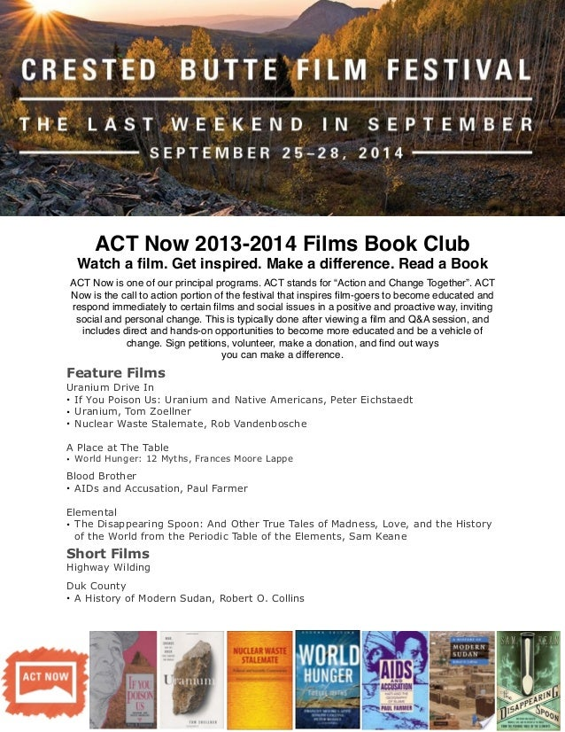 Act NOW Book Club Flyer