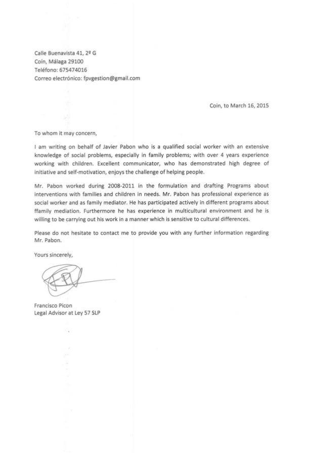 3º Reference Letter