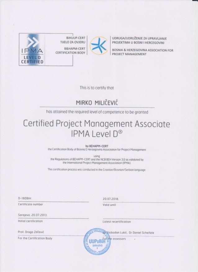 IPMA-certificate