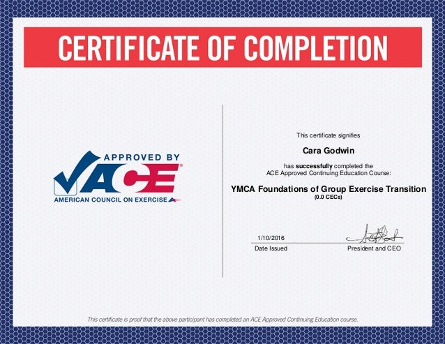 certification ace trainer personal slideshare certificate exercise upcoming
