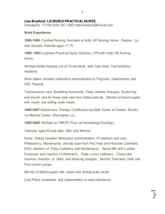 Classic Resume-Lisa, LPN-1