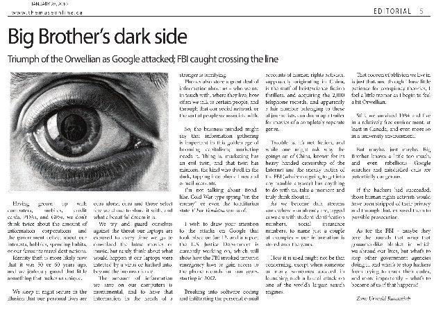 Big Brother's dark side   The Carillon
