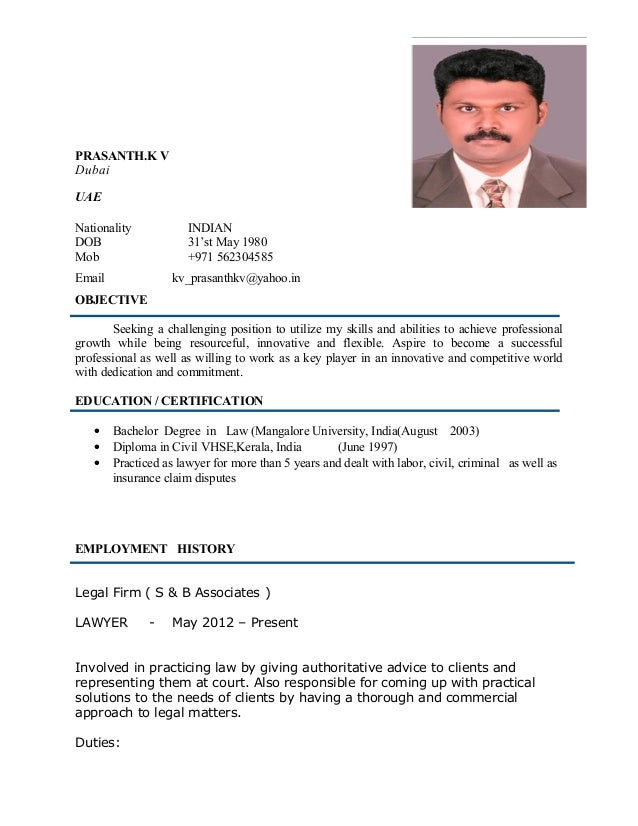 prasanth cv legal