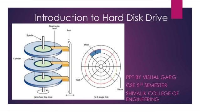 introduction to hard disk drive by vishal garg