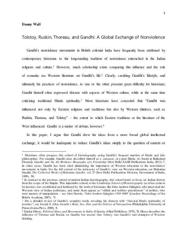 gandhi tolstoy ruskin and thoreau a global exchange of nonviolen   nonviolence 1 danny wall tolstoy ruskin thoreau and gandhi a global exchange of