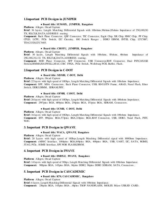 Pcb Designer Resume. resume sample junior network engineer resume ...