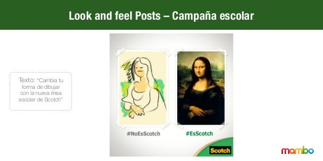 """Look and feel Posts – Campaña escolar Texto: """"¿Ya conoces la nueva línea escolar de Scotch?"""""""