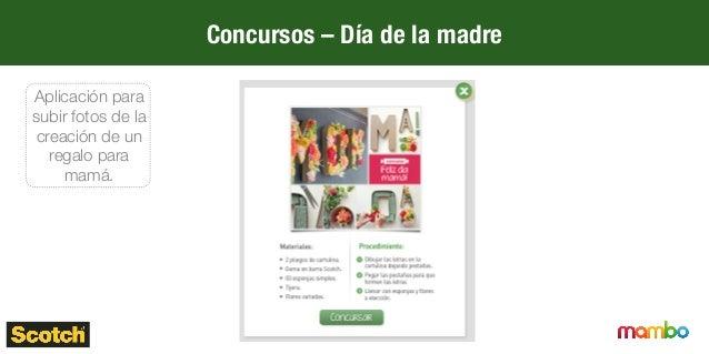 Concursos – Día de la madre Aplicación para subir fotos de la creación de un regalo para mamá.