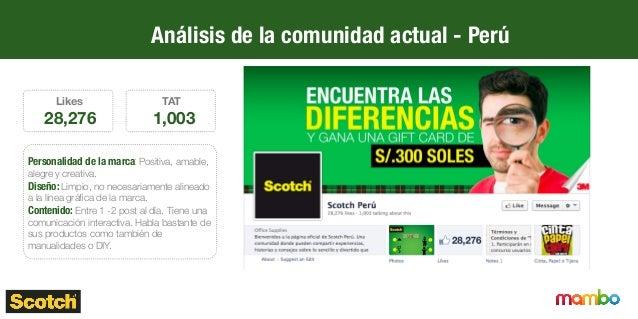 Análisis de la comunidad actual - Ecuador Likes 14,320 TAT 876 Personalidad de marca: Positiva, amable, alegre y familia...