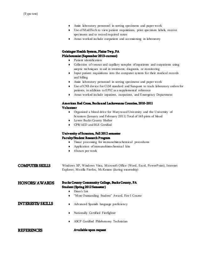Biology Resume 3