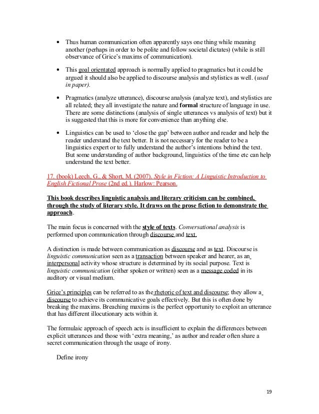 honors thesis format