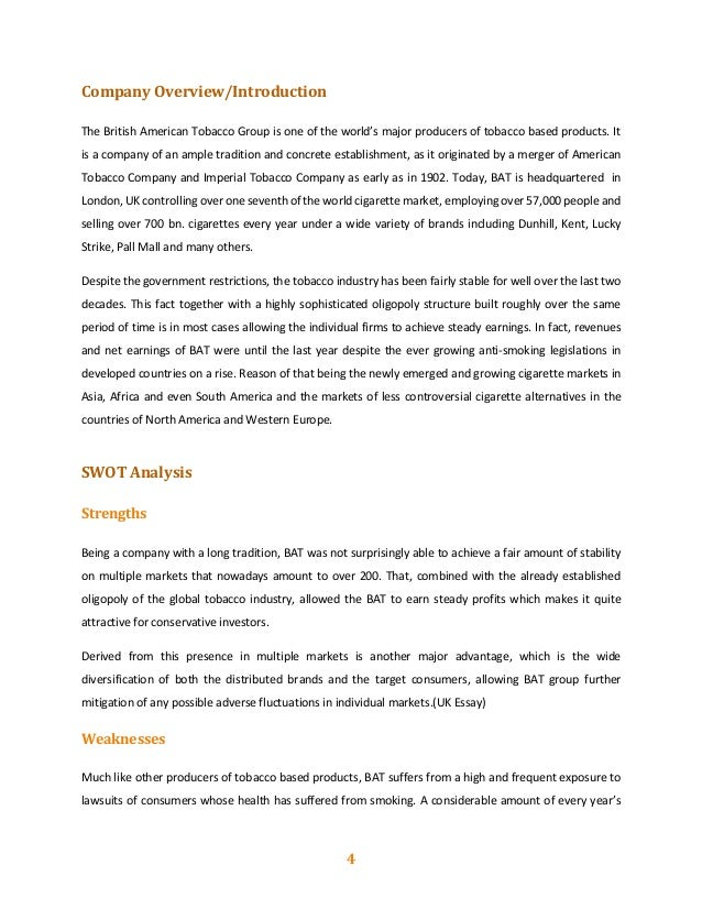 imperial tobacco financial analysis Get itc latest balance sheet, financial statements and itc detailed profit and  loss accounts  results of itc news results estimates analysis 07082018.