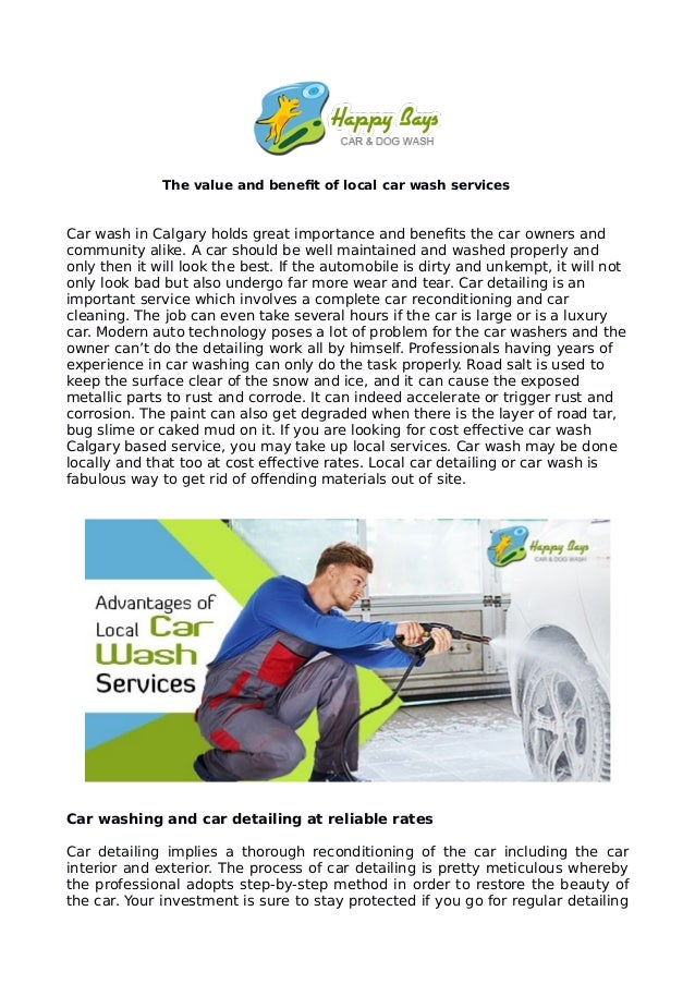 The value and benefit of local car wash services Car wash in Calgary holds great importance and benefits the car owners an...