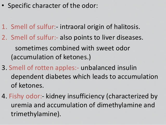Oral malodor : Reasons, Detection and Treatment