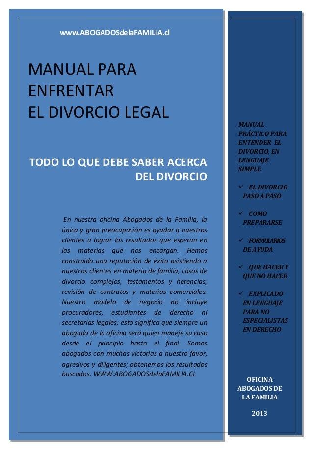 TODO LO QUE DEBE SABER ACERCA DEL DIVORCIO En nuestra oficina Abogados de la Familia, la única y gran preocupación es ayud...