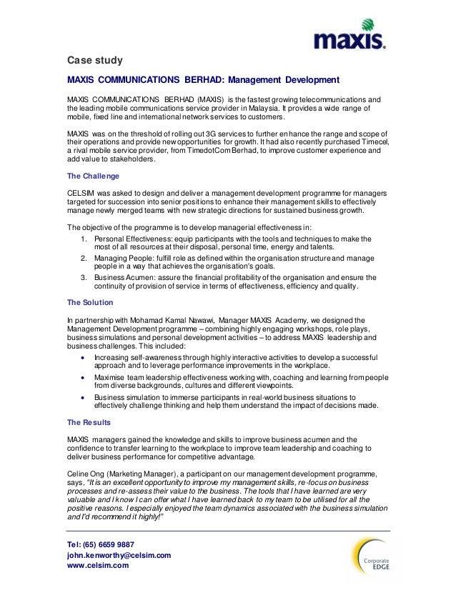 Maxis Communications Berhad Essay