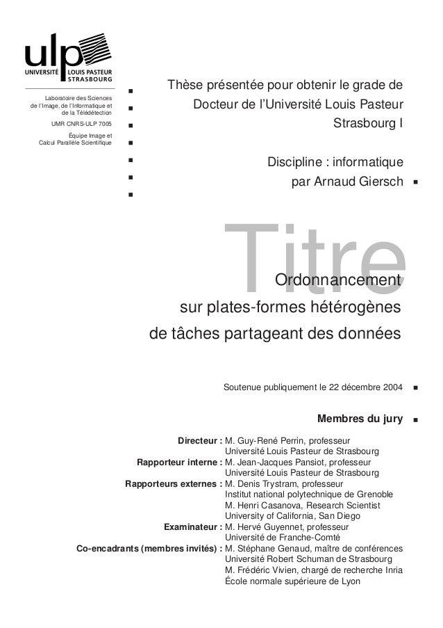 Thèse présentée pour obtenir le grade de      Laboratoire des Sciencesde l'Image, de l'Informatique et              Docteu...
